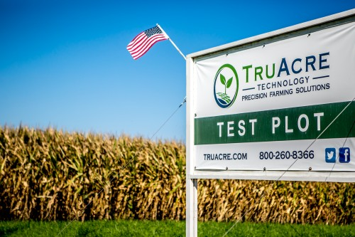 truacre test plot sign