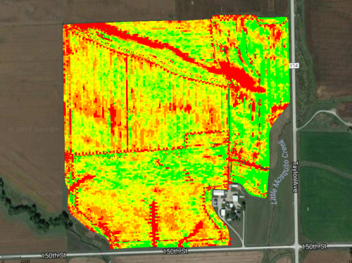 precision crop reporting map